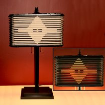 Recycled Accordion Lamp Using a Repurposed Squeeze Box from a Sonola Rivoli Accordion