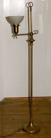 Charming Antique Brass Floor Lamp
