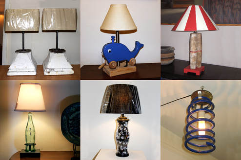 found object lamps