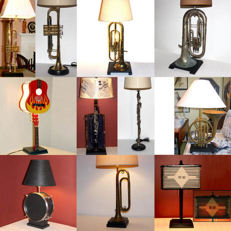 musical instrument lamps