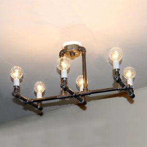 Pipe Chandelier, Pipe Ceiling Light