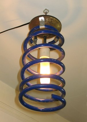 Ceiling Light From an Industrial Spring