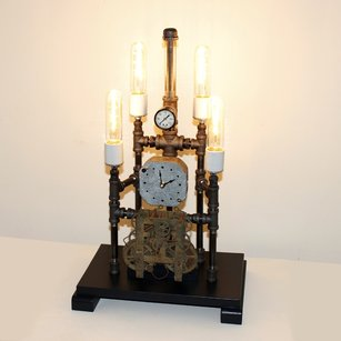 Steampunk Lamp and Clock