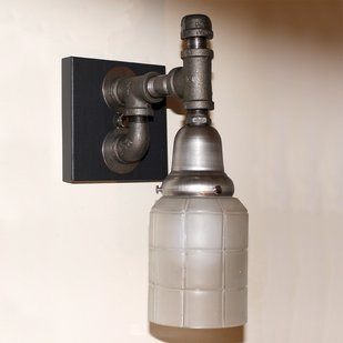 Steampunk Pipe Sconce