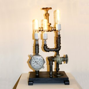 Steampunk Pipe Fittings Lamp
