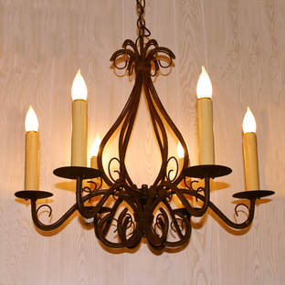 Electrified Candlestick Ceiling Light