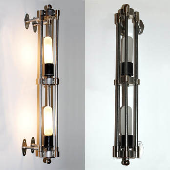 Custom Tri-pipe Bathroom Sconce