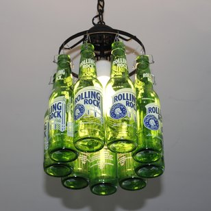Recycled Bottle Ceiling Light