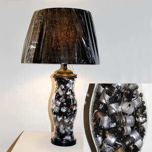 Table Lamp Made from Recycled Bulb Sockets