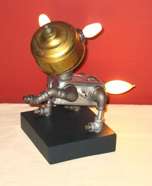 Recycled Dog Lamp