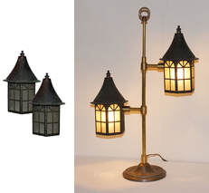 Table Lamp Using Recycled Candle Lanterns