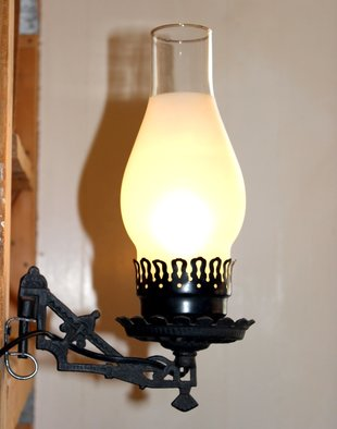 Vintage Black Cast Iron Wall Sconce
