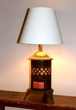 Table Lamp from Cleveland Foundry's Antique Tabletop Kerosene Stove