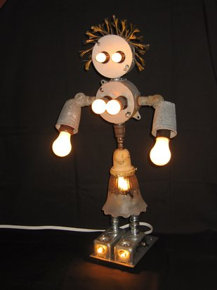 Quirky Recycled Table Lamp