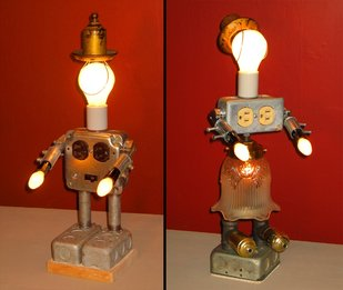 Roy Rogers and Dale Evans Table Lamps