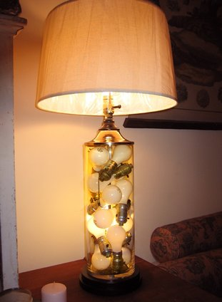 Table Lamp with Vintage Sockets and Bulbs