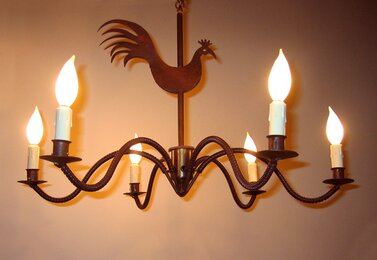 Electrified Ceiling Candlestick