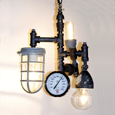 Steampunk Ceiling Light